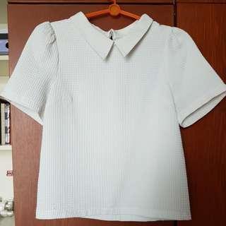 ISA White Short Sleeved Top