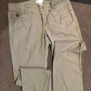 Diesel Khaki straight leg trouser In Size 30