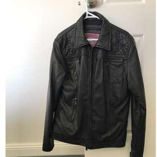 Barneys leather look jacket SIZE M