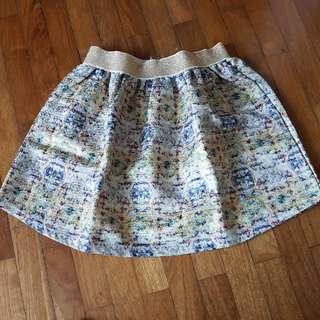 Stretchable Mosaic Skirt
