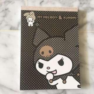My Melody&kuromi Notepad