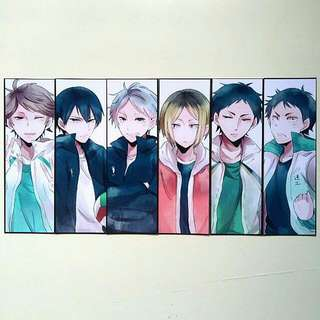 Haikyuu!! Setters Bookmark Set