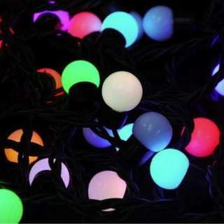 Waterproof LED RGB Bulb Light Cord 5M 50 Led 220 ~ 240V In Christmas Tree Decoration