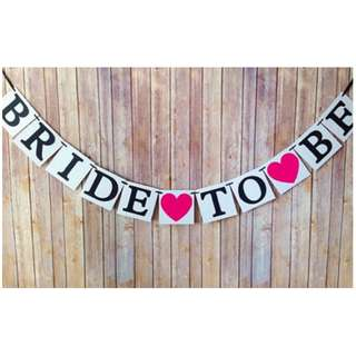 'Bride to Be' Hens Night Party Garland Banner