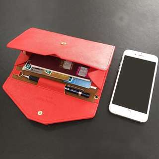 紅色旅行手拿包護照多功能卡包錢包皮包