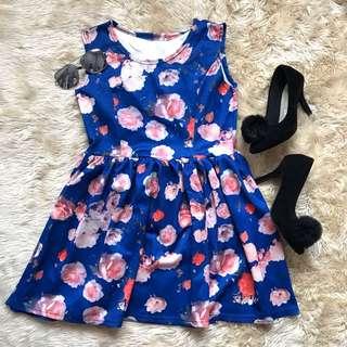 Navy Flora Dress