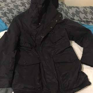 Medium Navy Oversized H&M Coat