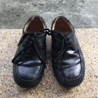 Florsheim Black Shoes For Kids (8 Inches Length)