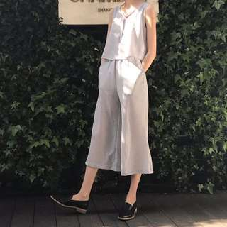 2017夏季新款背心連身寬鬆休閒寬褲