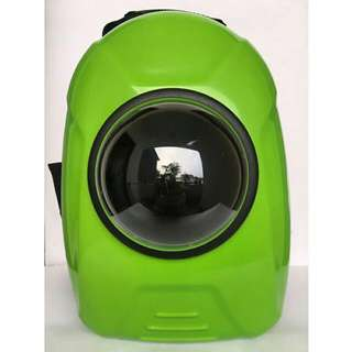 Pet Travel Bag Astronaut Space Capsule Basic Model Green