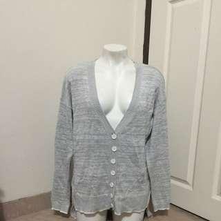 Women's Grey Boyfriend Cardigan