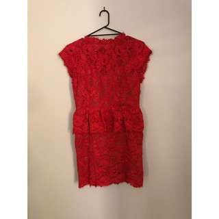 WITCHERY RED LACE DRESS