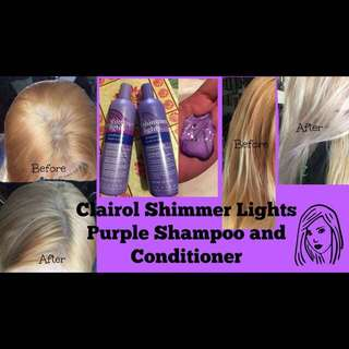 🔮<Ready Stock> Clairol Shimmer Lights Purple Shampoo / Conditioner