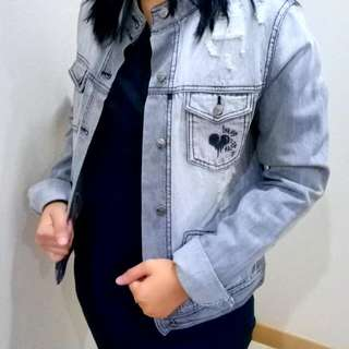 Ripped Jeans Jacket Grey brand Insight