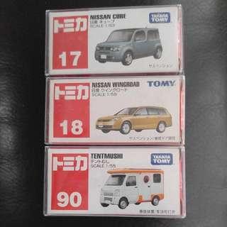 Tomy Tomaic Takara 17 18 90 (Nissan Cube; Nissan Wingroad; Tentmushi)