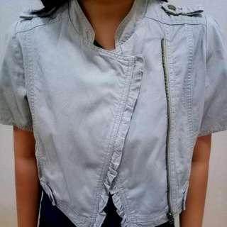 Cropped Zipper Jacket