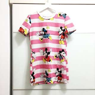 超可愛的長版米老鼠洋裝 #長版T #Disney