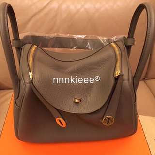 100% New & real Hermes Lindy 30 TC Etain