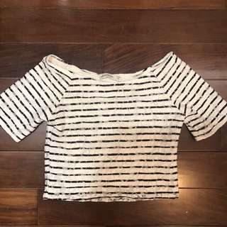 Abercrombie Kids Stripped Crop Top