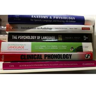 Speech / Language / Phonology / Audiology TEXTBOOKS