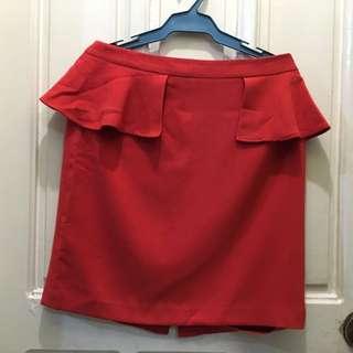 Forever21 Red Peplum Skirt