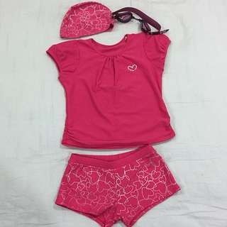 GIRLS SWIMWEAR (3 PCS) WITH FREE GOGGLES