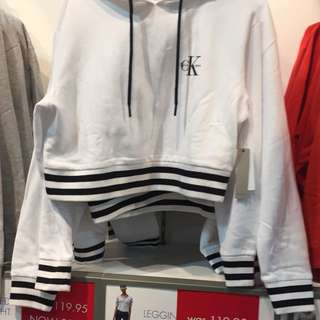 New Logo Cropped Calvin Klein Hoodie