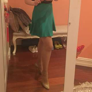 Forever New Green Mini Skirt 8