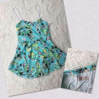 Flower Mint Jumpsuit