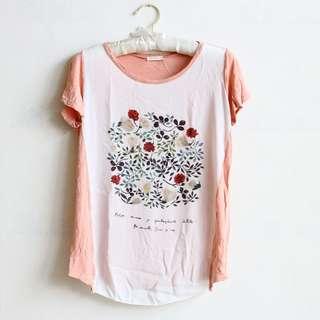 韓國製🇰🇷薄棉花卉上衣