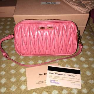 Miumiu粉紅色小手袋