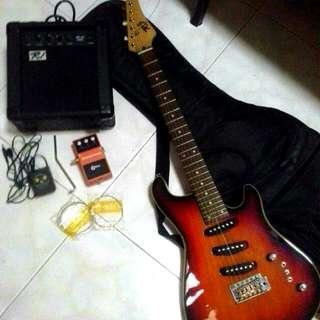 RJ Electric Guitar RJ Guitar Amplifier