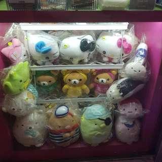 Hello Kitty, Rilakkuma, Sumikko, Disney, Sanrio, Melody, Nemo, Minion Plushes