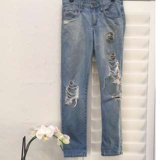 Size 26 NOBODY Distressed Boyfriend Jeans