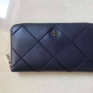 Tory Burch Navy Zip Wallet