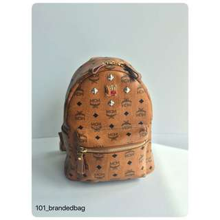 MCM Studded Signature Backpack