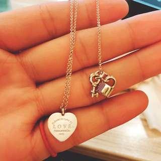 Tiffany&Co. Return to Tiffany Love刻字愛心綴飾鑰匙項鍊