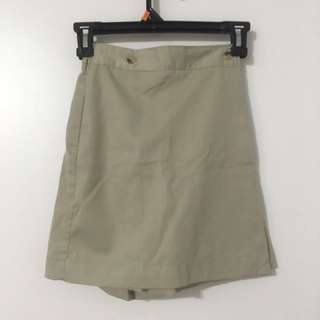 Khaki Coloured Skort
