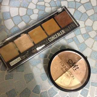 Concealer And Cream Foundation