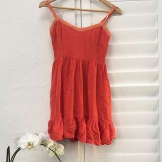 Size 6 Blood Orange Tigerlily Sun Dress