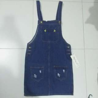 BNWT Denim Overall Dress Skirt