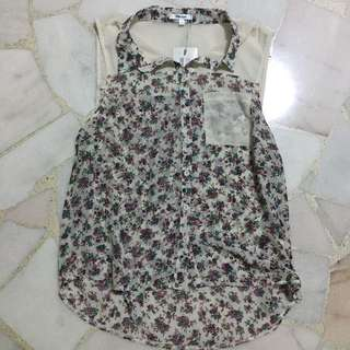 TEMT Floral Sleeveless Top