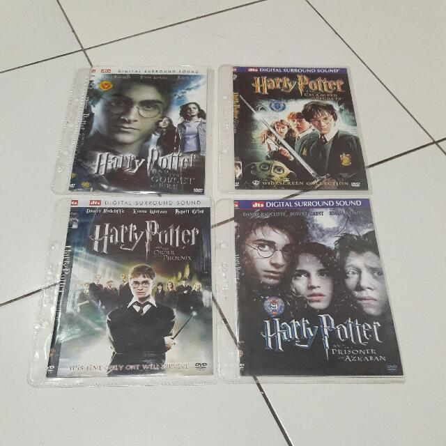 4 DVD Film HARRY POTTER