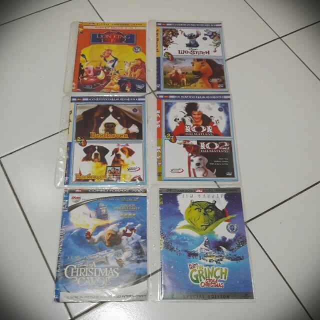 6 DVD Cartoon DISNEY
