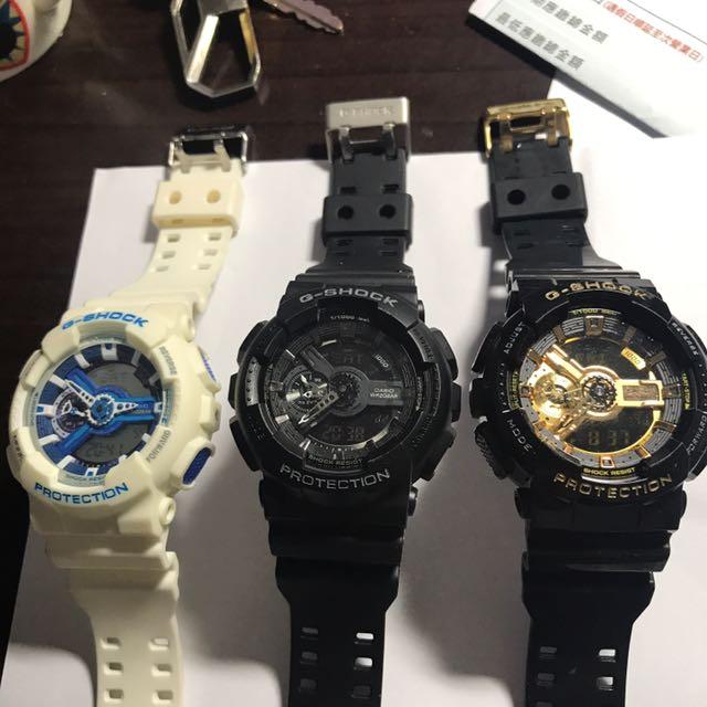 二手9成新。保證正品 Casio G-shock Ga-110 特價商品 男錶 黑金 全新 錶 卡西歐