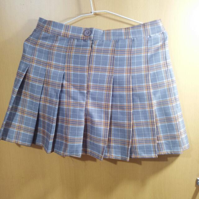 格紋百摺短裙