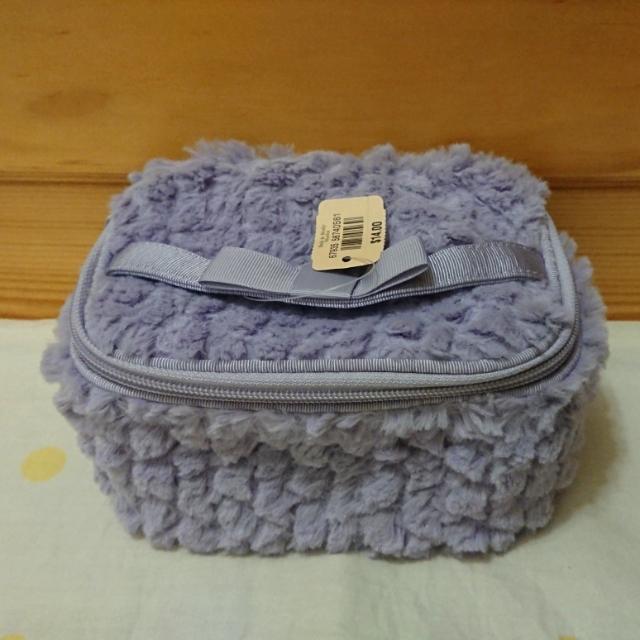 [全新] Bath & Body Works 紫色毛呢化妝包