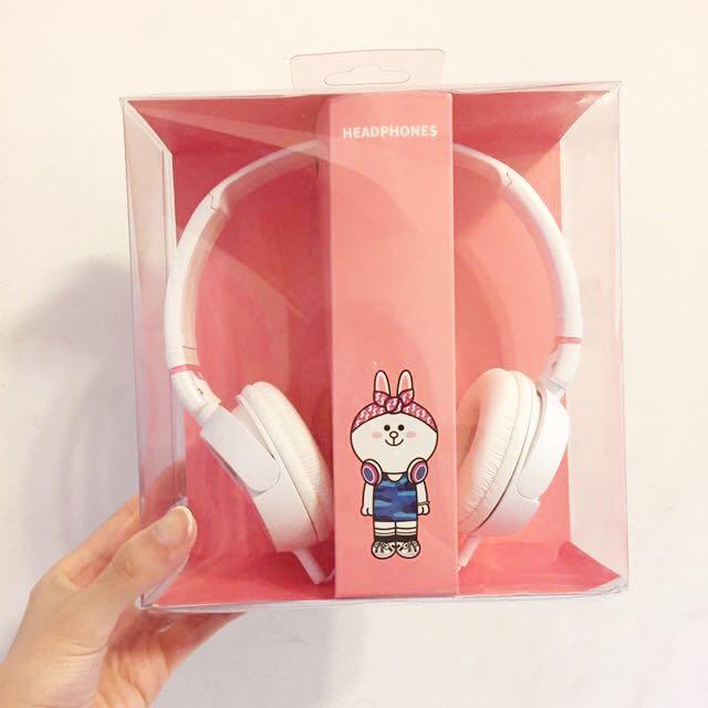 全新 Line 兔兔 耳機