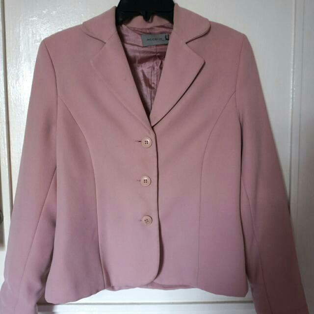 ACCENT - Dusty Pink Blazer