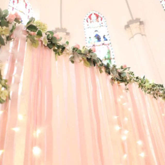 Affordable flower garland backdrop pink flower with fairy light photo photo photo mightylinksfo